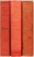 Books:Literature 1900-up, Mark Twain. Three First Edition Titles. Includes: The Man That Corrupted Hadleyburg (second state); Christian Science ... (Total: 3 Items)