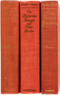 Books:Literature 1900-up, Mark Twain. Three First Edition Titles. Includes: ChristianScience (first state); Mark Twain's Speeches (firstprin... (Total: 3 Items)