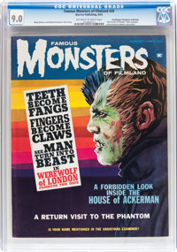 Famous Monsters of Filmland #24 Don/Maggie Thompson Collection pedigree (Warren, 1963) CGC VF/NM 9.0 Off-white to white...