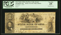 Obsoletes By State:Ohio, Springfield, OH- The State Bank of Ohio, Mad River Valley Branch $1Oct. 1, 1851 G1310 Wolka 2458-04. ...