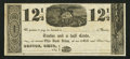 Obsoletes By State:Ohio, Roscoe, OH- Unknown Issuer 12-1/2¢ Remainder Wolka 2342-04. ...