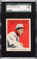 Baseball Cards:Singles (Pre-1930), 1915 Cracker Jack Miller Huggins #75 SGC 88 NM/MT 8 - Pop One, FourHigher! ...