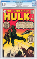 Silver Age (1956-1969):Superhero, The Incredible Hulk #3 (Marvel, 1962) CGC VF+ 8.5 Off-white towhite pages....