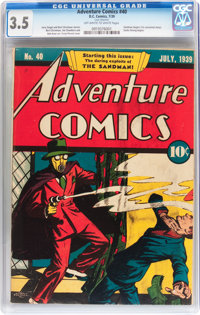Adventure Comics #40 (DC, 1939) CGC VG- 3.5 Off-white to white pages