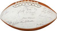 1970's Green Bay Packers Hall of Fame Banquet Multi Signed Football