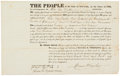 "Autographs:Statesmen, Daniel D. Tompkins Military Appointment Signed as governor of NewYork. One partially-printed page, 16"" x 10"", Albany, March..."