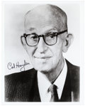 Autographs:Statesmen, Carl Hayden Photograph Signed. Hayden (1877-1972) served in theU.S. Congress for five decades for the state of Arizona and ...