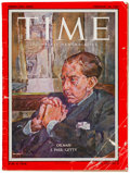 Miscellaneous:Ephemera, [J. Paul Getty]. Time Magazine. Vol. LXXI, No. 8. February24, 1958. With cover featuring J. Paul Getty, founder...