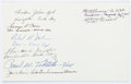 Autographs:Military Figures, [Enola Gay] and [Bockscar]. Card Signed by Crew Members of the Enola Gay and Bocksca...