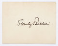 Autographs:Non-American, Stanley Baldwin, 1st Earl Baldwin of Bewdley, Card Signed. Baldwin(1867-1974) served as prime minister of the United Kingdo...