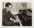 """Autographs:Artists, Pianist Alexander Brailowsky Inscribed Photograph Signed.Brailowsky (1896-1976) is seen at the piano in a 10"""" x 8"""" sepiato..."""
