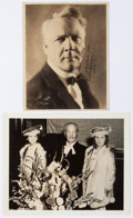 Autographs:Artists, Feodor Chaliapin Inscribed Photograph Signed. The Russian-bornopera singer Chaliapin (1873-1938) is seen in this sepia tone...(Total: 2 Items)