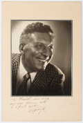 "Autographs:Artists, Ezio Pinza Inscribed Photograph Signed. Measures 8"" x 10"" (sight).Pinza (1892-1957), an Italian-born opera singer, is seen ..."