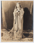 "Autographs:Artists, Kirsten Flagstad Inscribed Photograph Signed. Measuring 7.5"" x 9.25"", the Norwegian-born opera singer is seen in costume wit..."