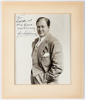 "Autographs:Artists, John Charles Thomas Inscribed Photograph Signed. Measuring 6.75"" x8.75"" (sight), Thomas (1891-1960), an American opera sing..."