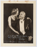 "Autographs:Artists, Lauritz Melchior Inscribed Photograph Signed. Measuring 10.5"" x13.5"", the preeminent tenor is seen in formal attire, his wi..."