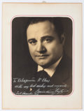 "Autographs:Artists, Beniamino Gigli Inscribed Photograph Signed. 6.75"" x 8.75"" (sight),New York, December 1931. Gigli (1890-1957), a world reno..."
