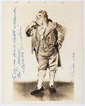 "Autographs:Artists, Salvatore Baccaloni Inscribed Photograph Signed. Measuring 8"" x 10"", Baccaloni is seen dressed as the title character in Gae..."