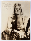 """Autographs:Artists, Anna Pavlova Inscribed Photograph Signed. The Russian primaballerina is pictured in this 7.25"""" x 9.75"""" silver gelatin photo..."""