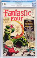Silver Age (1956-1969):Superhero, Fantastic Four #1 (Marvel, 1961) CGC FN/VF 7.0 Off-white to white pages....
