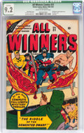 Golden Age (1938-1955):Superhero, All Winners Comics #21 (Timely, 1947) CGC Qualified NM- 9.2 Cream to off-white pages....