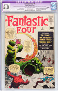 Silver Age (1956-1969):Superhero, Fantastic Four #1 (Marvel, 1961) CGC Apparent VG/FN 5.0 Extensive(A) Off-white to white pages....
