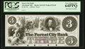 Obsoletes By State:Ohio, Cleveland, OH- The Forest City Bank $3 G8 Wolka 0732-05 Proof. ...