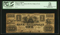 Obsoletes By State:Ohio, Gallipolis, OH- The Bank of Gallipolis $1 Dec. 1, 1840 Wolka1171-01. ...