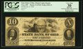 Obsoletes By State:Ohio, Troy, OH- The State Bank of Ohio, Miami County Branch $10 Jan. 8,1858 G1518 Wolka 2590-33. ...