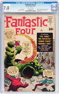 Silver Age (1956-1969):Superhero, Fantastic Four #1 (Marvel, 1961) CGC FN/VF 7.0 Off-white pages....
