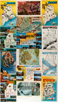 Miscellaneous:Postcards, [Postcards]. Group of Fourteen Postcards Depicting Maine. Ca.1960s. Measures 5.5 x 3.5 inches. Fine. . ...
