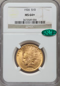 Indian Eagles, 1926 $10 MS64+ NGC. CAC. NGC Census: (4429/611). PCGS Population(3309/375). Mintage: 1,014,000. Numismedia Wsl. Price for ...