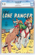 Golden Age (1938-1955):Western, Four Color #98 The Lone Ranger - Double Cover - Mile High pedigree(Dell, 1946) CGC NM/MT 9.8 White pages....