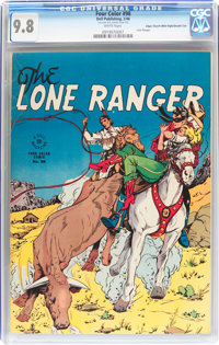 Four Color #98 The Lone Ranger - Double Cover - Mile High pedigree (Dell, 1946) CGC NM/MT 9.8 White pages