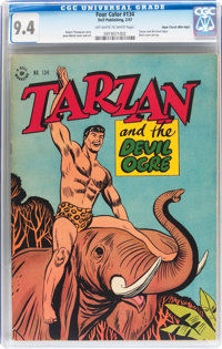 Four Color #134 Tarzan - Mile High pedigree (Dell, 1947) CGC NM 9.4 Off-white to white pages