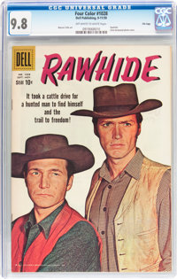 Four Color #1028 Rawhide - File Copy (Dell, 1959) CGC NM/MT 9.8 Off-white to white pages