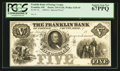 Obsoletes By State:Ohio, Franklin, OH- The Franklin Bank of Portage County $5 G21b Wolka1120-10 Special Proof. ...