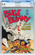 Golden Age (1938-1955):Cartoon Character, Four Color #51 Bugs Bunny - File Copy (Dell, 1944) CGC VF/NM 9.0Off-white to white pages....
