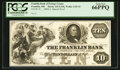 Obsoletes By State:Ohio, Franklin, OH- The Franklin Bank of Portage County $10 G16b Wolka1120-15 Special Proof. ...