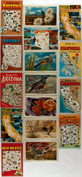 Miscellaneous:Postcards, [Postcards]. Group of Sixteen Postcards Depicting Arizona,California and New Mexico. Ca. 1960. Measures 5.5 x 3.5 inches.F...