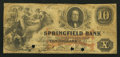 Obsoletes By State:Ohio, Springfield, OH- The Springfield Bank $10 Apr. 1, 1856 G22a Wolka2452-20. ...