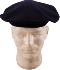 Music Memorabilia:Costumes, John Lennon Owned and Worn Black Beret (Luton, c. 1970s)....