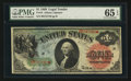 Large Size:Legal Tender Notes, Fr. 18 $1 1869 Legal Tender PMG Gem Uncirculated 65 EPQ.. ...
