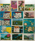 Miscellaneous:Postcards, [Postcards]. Group of Sixteen Postcards Depicting Oregon,Washington, Alaska and Hawaii. Ca. 1970s. Measures 5.5 x 3.5inche...