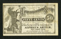 Obsoletes By State:Ohio, New Lisbon, OH- Alpheus Arter 50¢ Commission Scrip Wolka 1846-01....