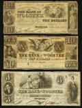 Obsoletes By State:Ohio, Wooster, OH- The Bank of Wooster $3; $10 (2) 1841-46 G20; G36; A20Wolka 2866-10; -27; -29. ... (Total: 3 notes)
