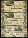 Obsoletes By State:Ohio, Portsmouth, OH- The Newport Lyceum payable at the CommercialExchange Bank of Scioto $1; $3 (2) June 1, 1837 Wolka 2270-01; ...(Total: 3 notes)
