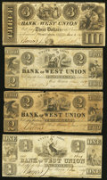 Obsoletes By State:Ohio, West Union, OH- The Bank of West Union $1; $2 (2); $3 Jan. 1, 1839G40; G42 (2); G46a Wolka 2824-04; -05 (2); -10. ... (Total: 4notes)