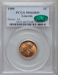 Lincoln Cents: , 1909 1C MS66 Red PCGS. CAC. PCGS Population (504/66). NGC Census:(170/5). Mintage: 72,702,616. Numismedia Wsl. Price for p...