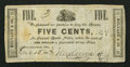 Obsoletes By State:Ohio, Newcomerstown, OH- Mulvane & Co. 5¢ Dec. 15, 1862 Wolka1961-01. ...